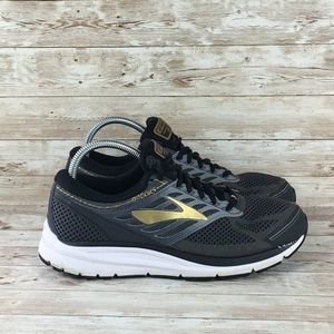 Brooks Addiction 13 Mens 9.5 Extra Wide Black Gold